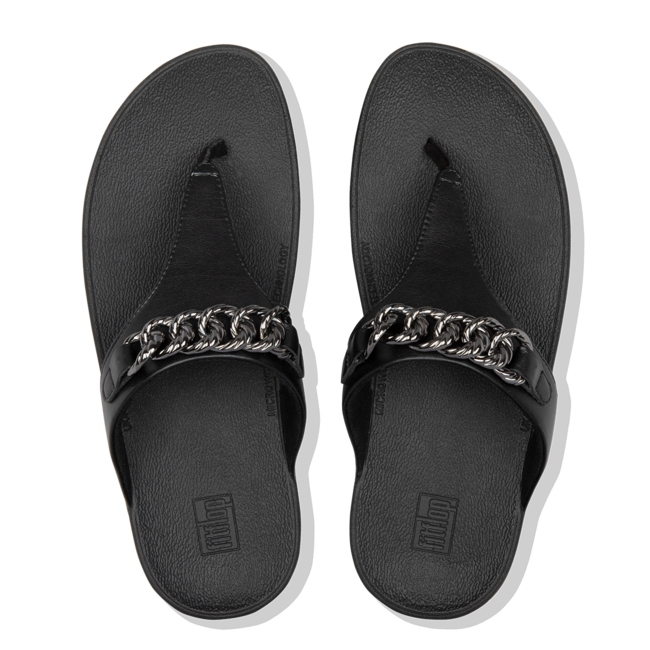 Lottie chain toe-thongs pu