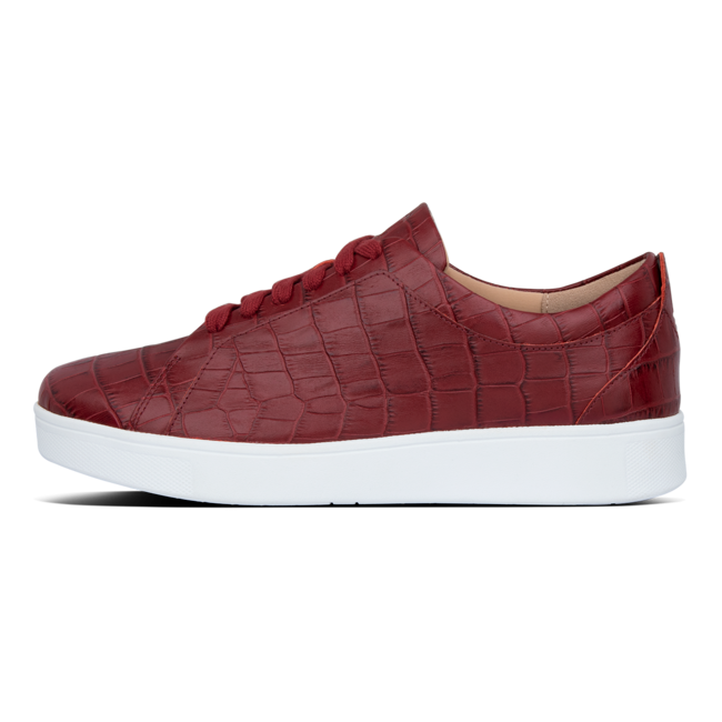 Rally croc print sneakers leather