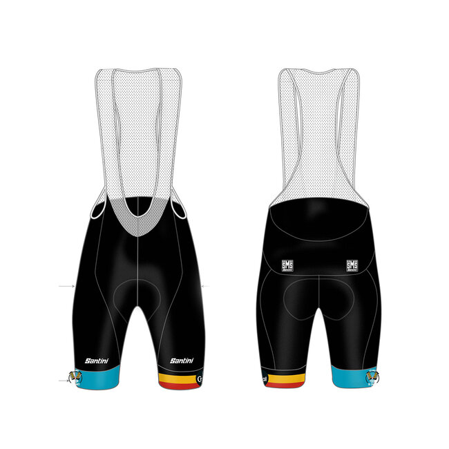 Custom KARMA EVO BIB-SHORTS white braces pure class NAT Pad