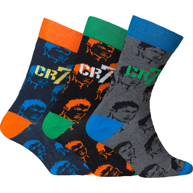 Socks Cotton Stretch 3-Pack Fashion Line Boys