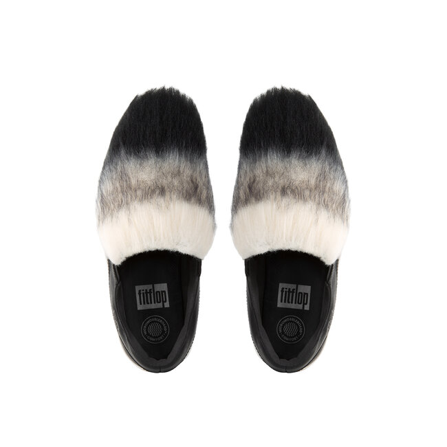 Loaff™ Slip-On Leather Sneakers With Faux Fur