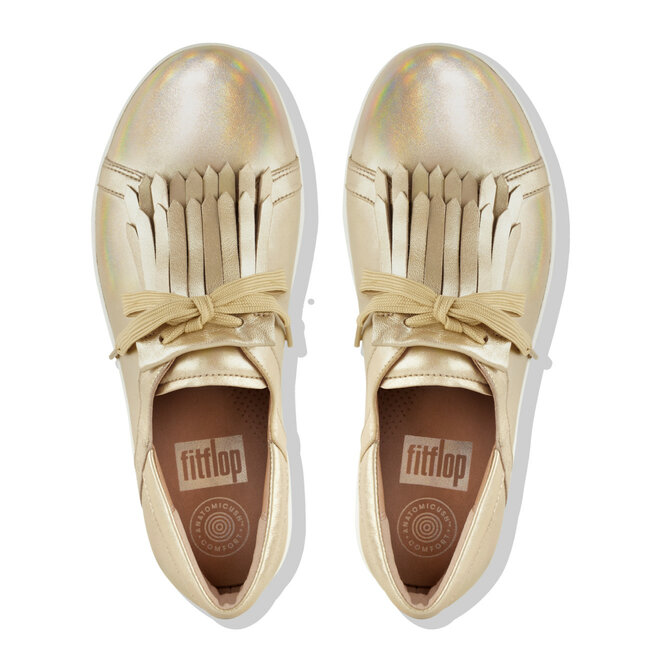 F-Sporty™ II Lace-Up Fringe Sneakers Iridescent Leather