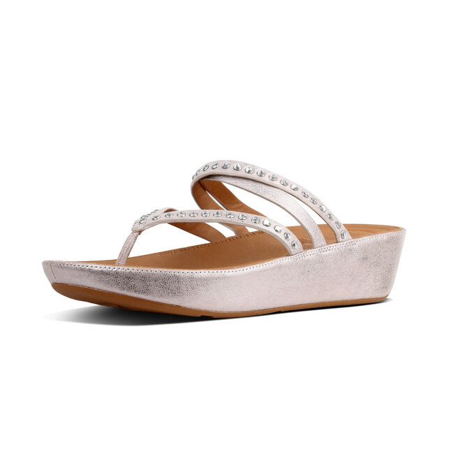 Linny™ Criss Cross Toe Thong Sandals Crystal