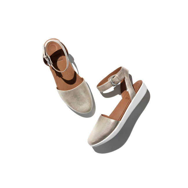 Cova™ Closed Toe Sandals Metallic Leather